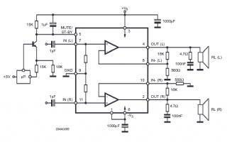 Усилитель TDA7265 в нашем случае используется в типовом включении, так что для.